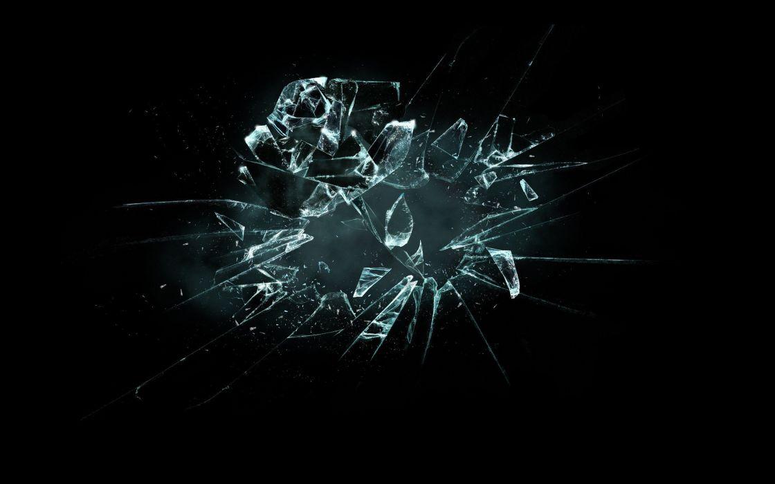 Abstract broken glass black background wallpaper 2560x1600 abstract broken glass black background wallpaper voltagebd Images