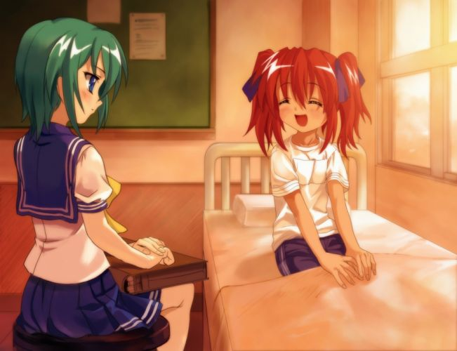 Lucky Star school uniforms anime anime girls wallpaper