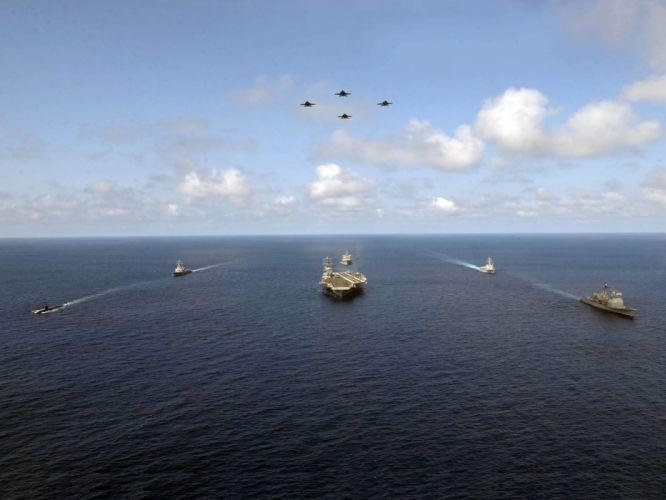 military warfare ships navy planes aircraft carriers sea wallpaper