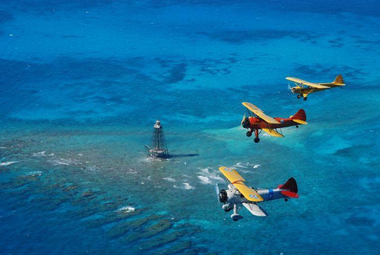 biplane airplane plane aircraft wallpaper
