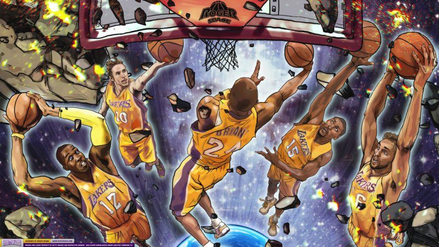 LOS ANGELES LAKERS nba basketball (45) wallpaper
