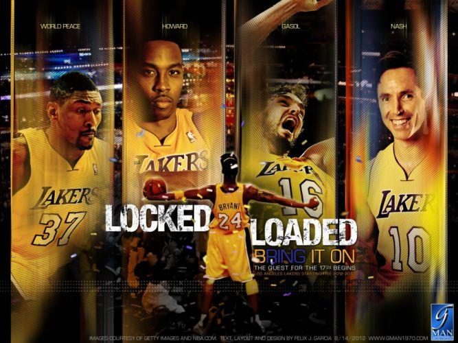 LOS ANGELES LAKERS nba basketball (48) wallpaper