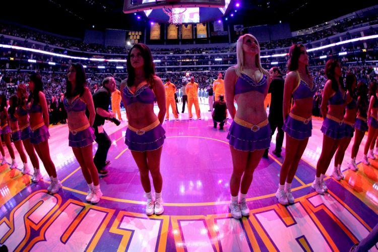 LOS ANGELES LAKERS nba basketball cheerleader wallpaper