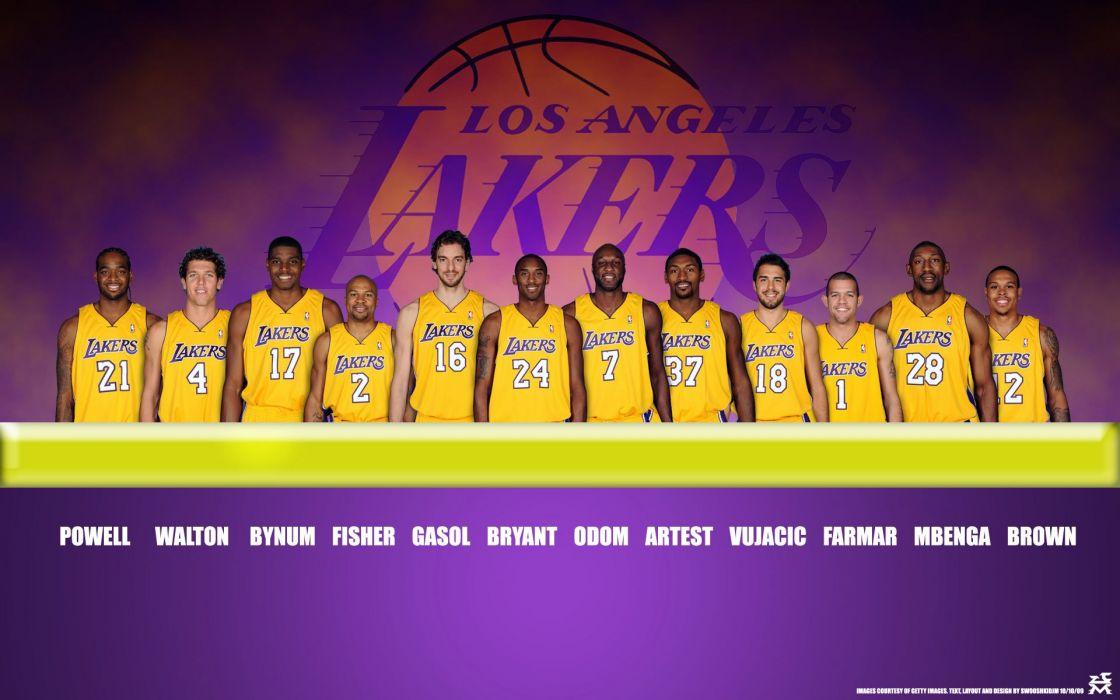 LOS ANGELES LAKERS nba basketball (2) wallpaper