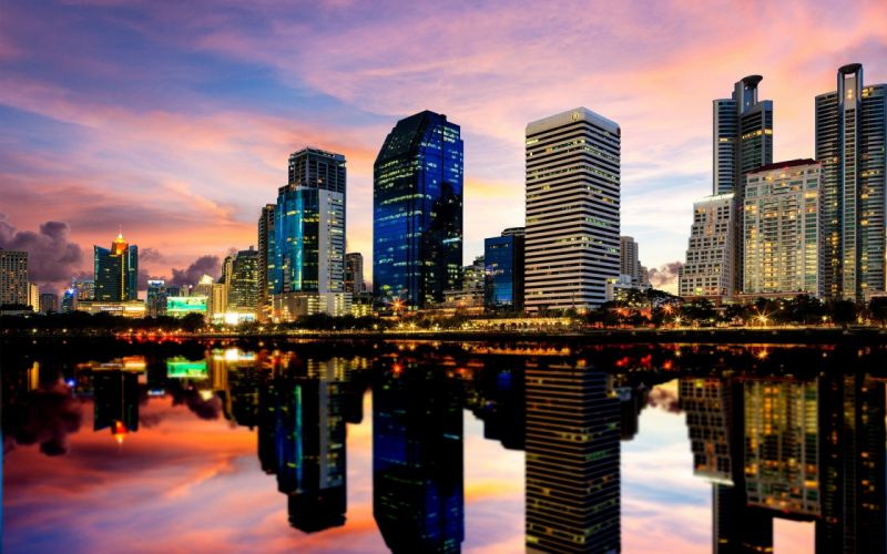 cityscapes skyscrapers Thailand bangkok wallpaper