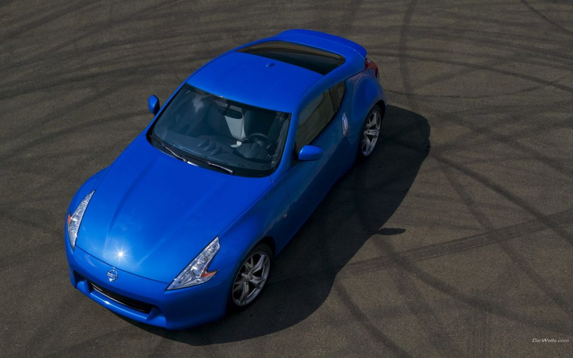 cars Nissan 370Z blue cars wallpaper