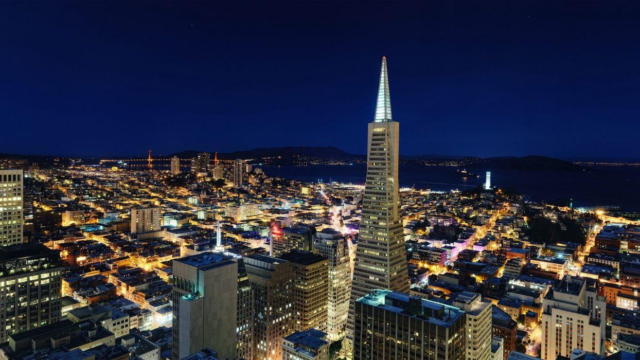 cityscapes San Francisco TransAmerica Building wallpaper