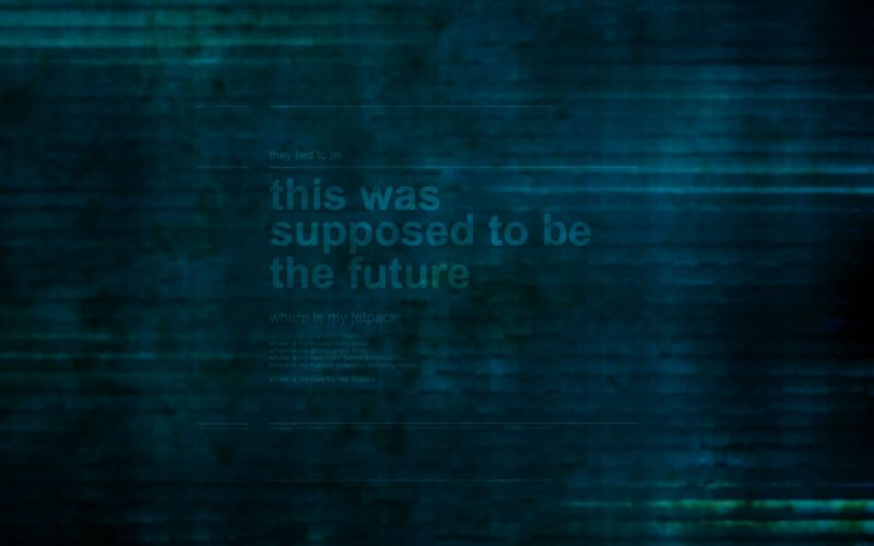 futuristic text technology green background inventions wallpaper