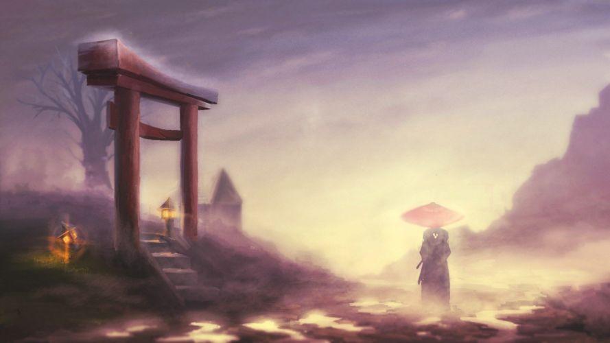 samurai artwork paintwork wallpaper