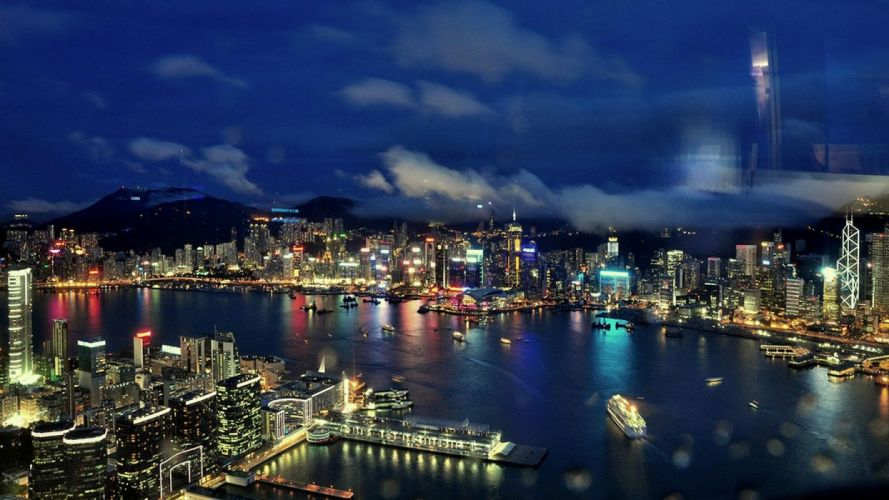 China buildings Hong Kong cities sight wallpaper