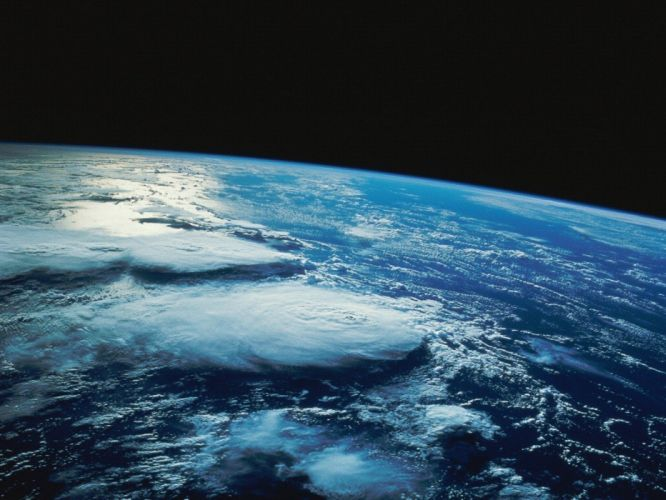 outer space stars Earth wallpaper