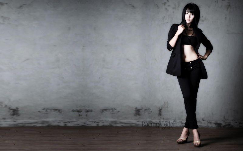 women models Asians Korean bellies wallpaper