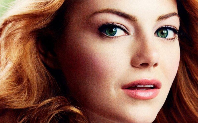 women close-up eyes redheads Emma Stone green eyes faces wallpaper