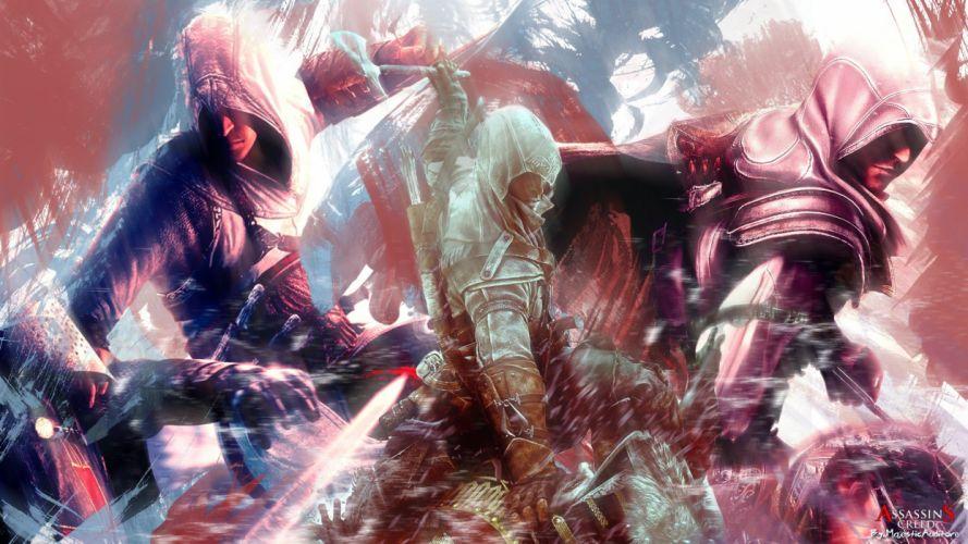 assassin Assassins Creed Altair Ibn La Ahad legacy Assassins Creed 2 Assassins Creed 3 Connor Kenway Ezio Auditore da Firenze wallpaper
