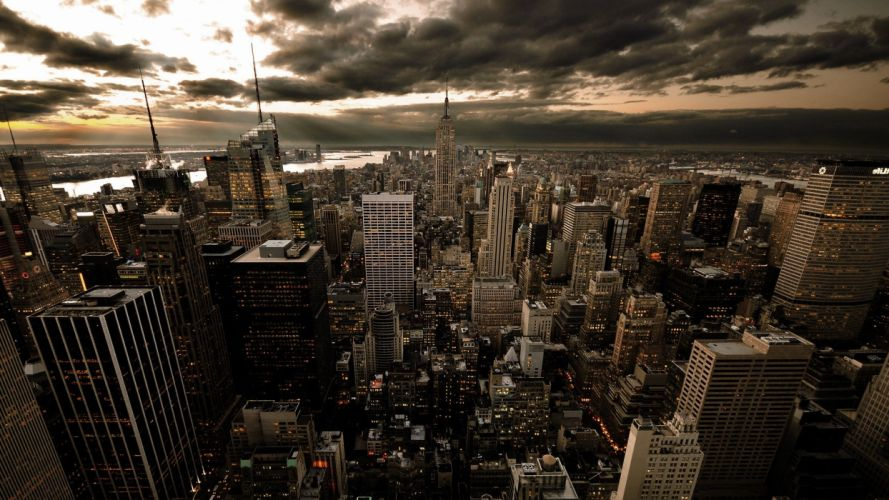 clouds cityscapes Epica wallpaper