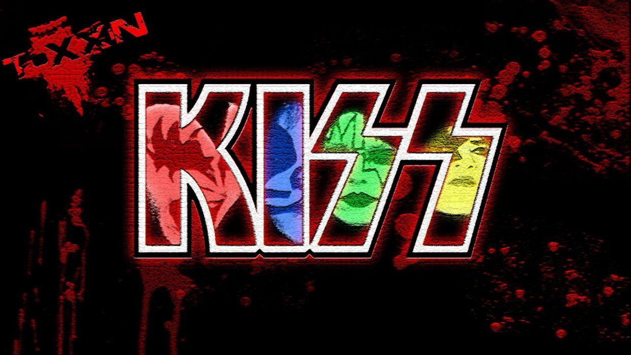 music digital art artwork fan art Rock Band Kiss Band wallpaper