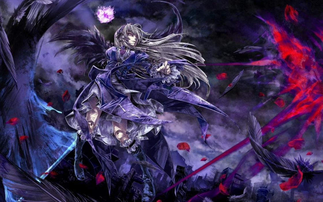 wings Rozen Maiden feathers Suigintou anime girls wallpaper