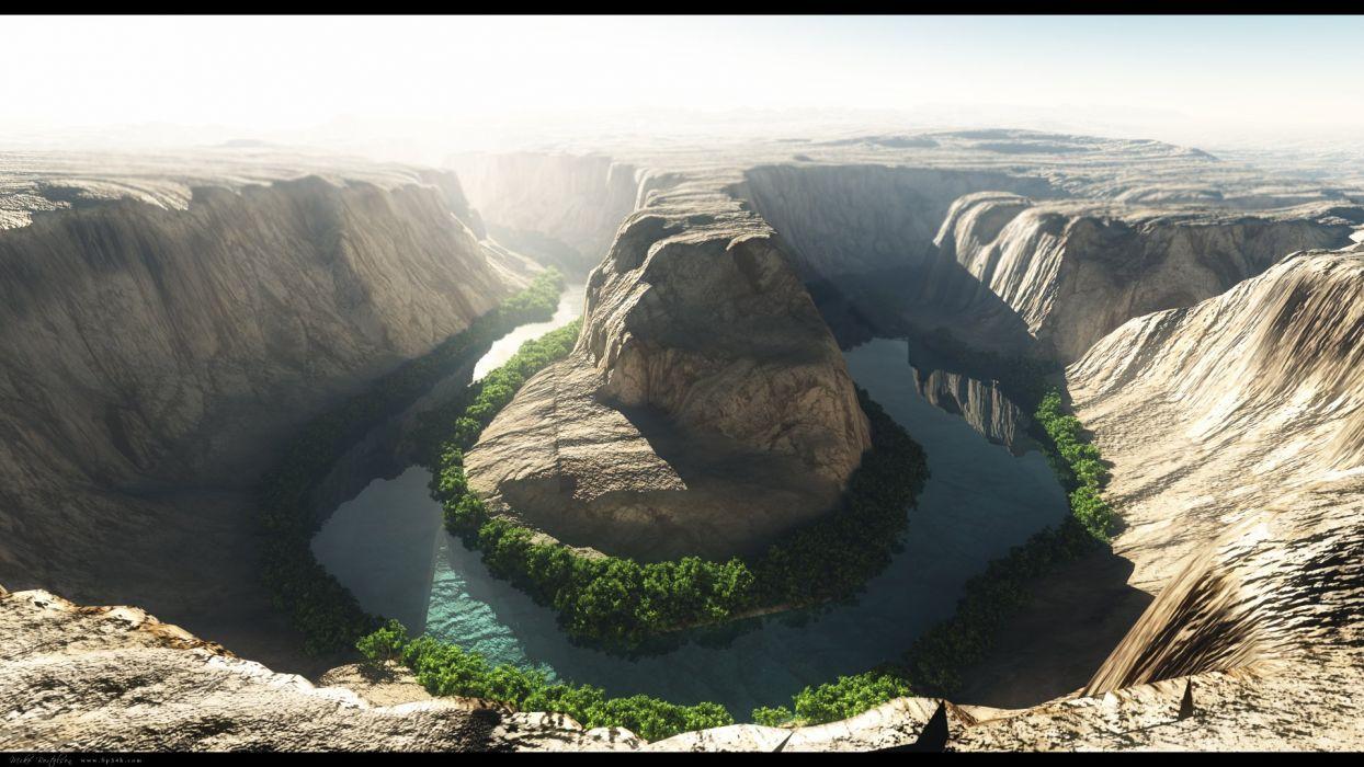 mountains landscapes nature canyon Ben horseshoe bend rivers Vue horseshoe wallpaper
