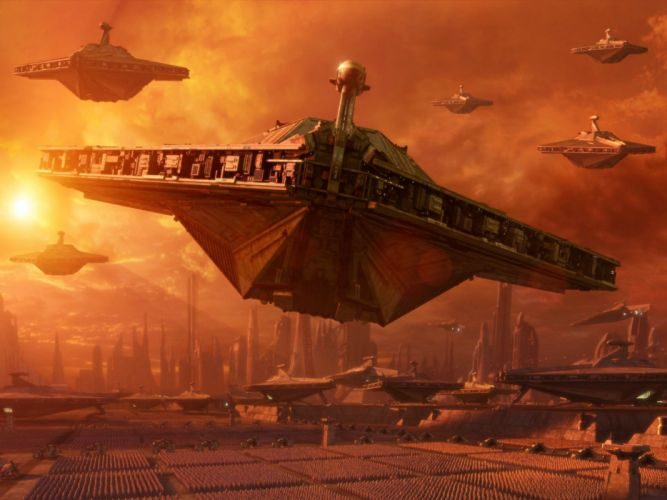 Star Wars spaceships science fiction Star Wars: Attack of the Clones wallpaper