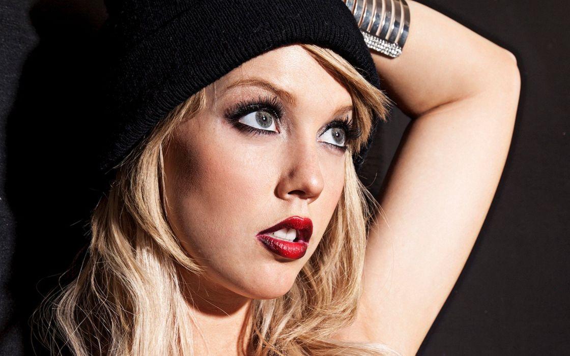 blondes women close-up eyes blue eyes Playboy magazine faces Ashley Zeitler wallpaper