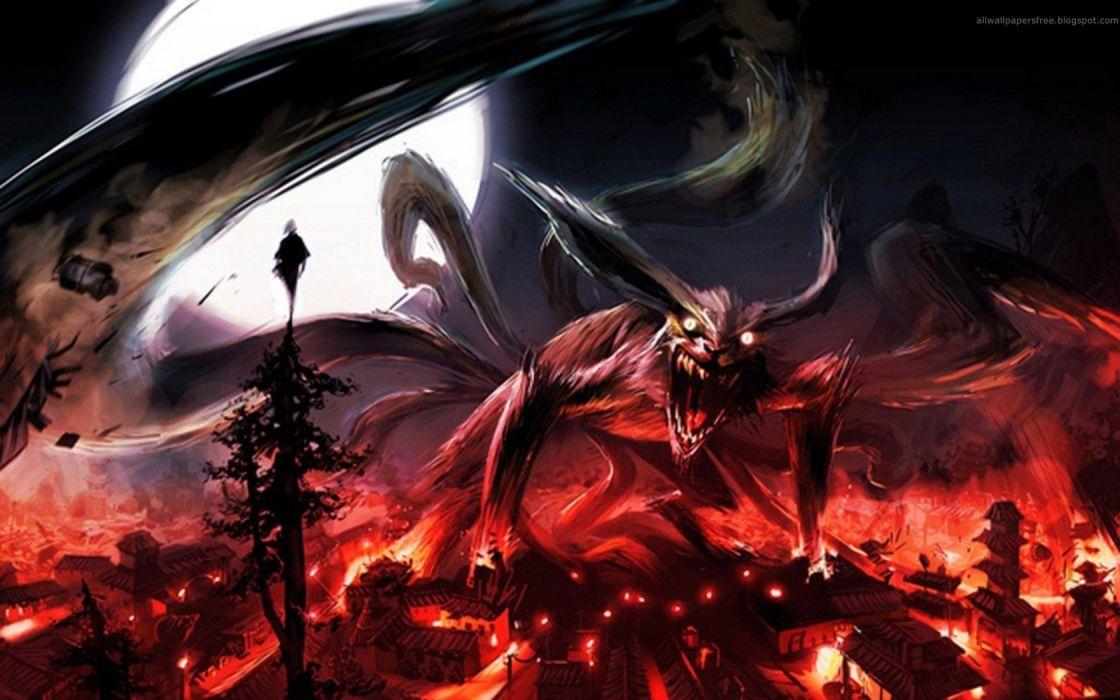 Naruto: Shippuden Kyuubi konoha wallpaper