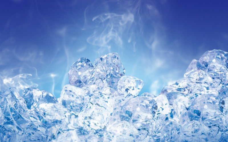 ice blue ice and smoke wallpaper