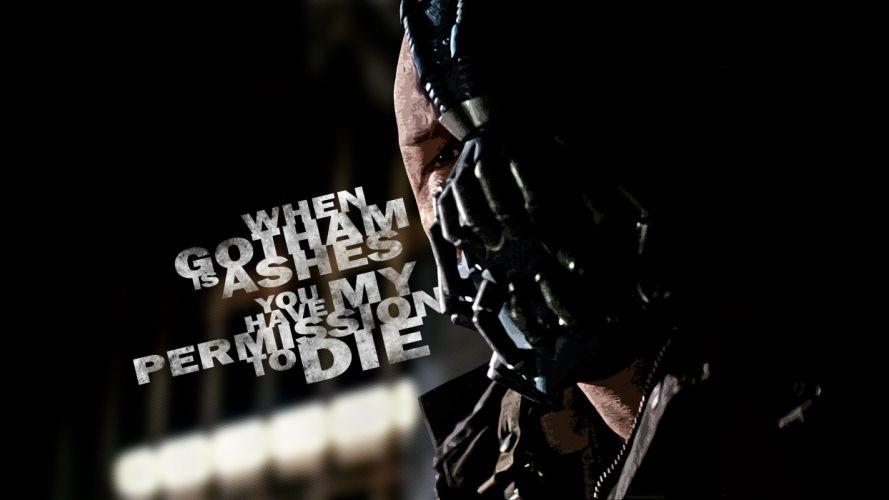 Batman text quotes typography Bane Tom Hardy Batman The Dark Knight Rises wallpaper