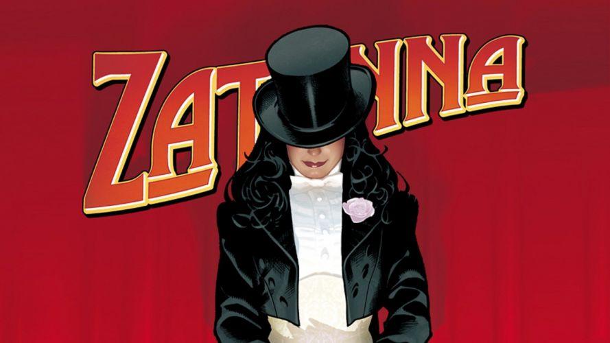 DC Comics comics Zatanna Adam Hughes top hat comic art wallpaper
