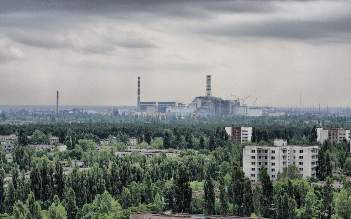 cityscapes Pripyat Chernobyl wallpaper