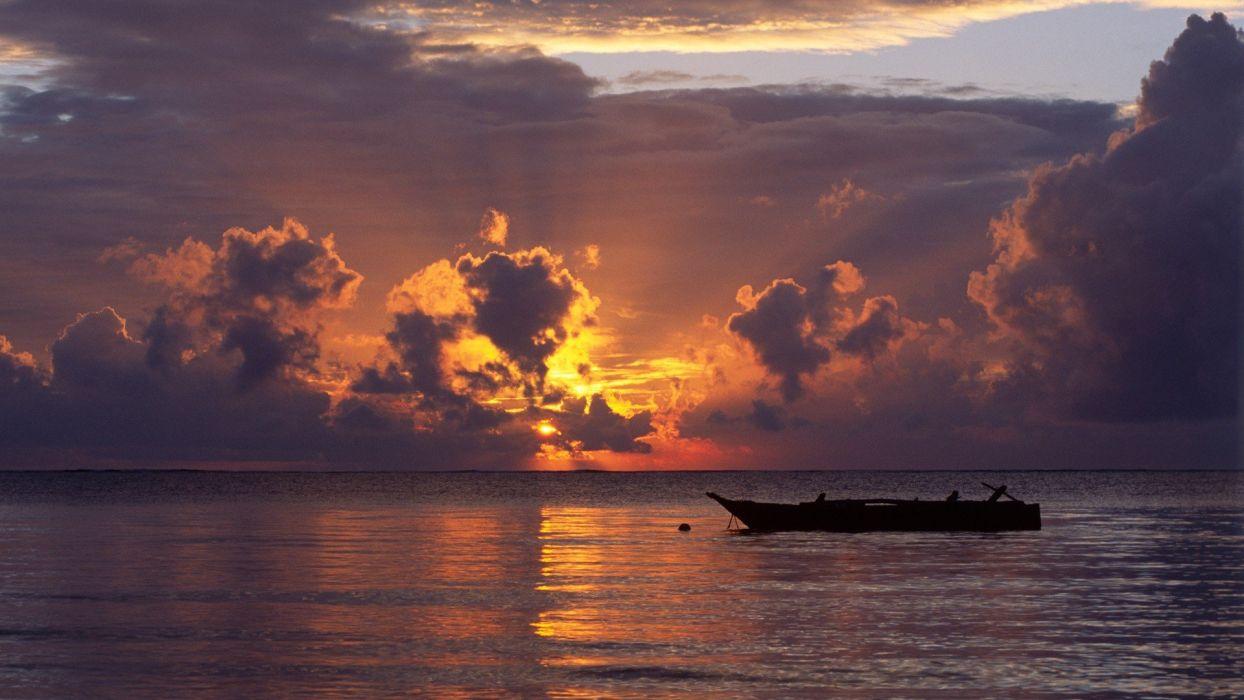 sunrise Africa Kenya beaches wallpaper