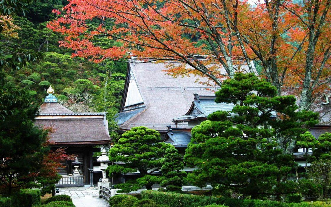 Japan nature garden wallpaper