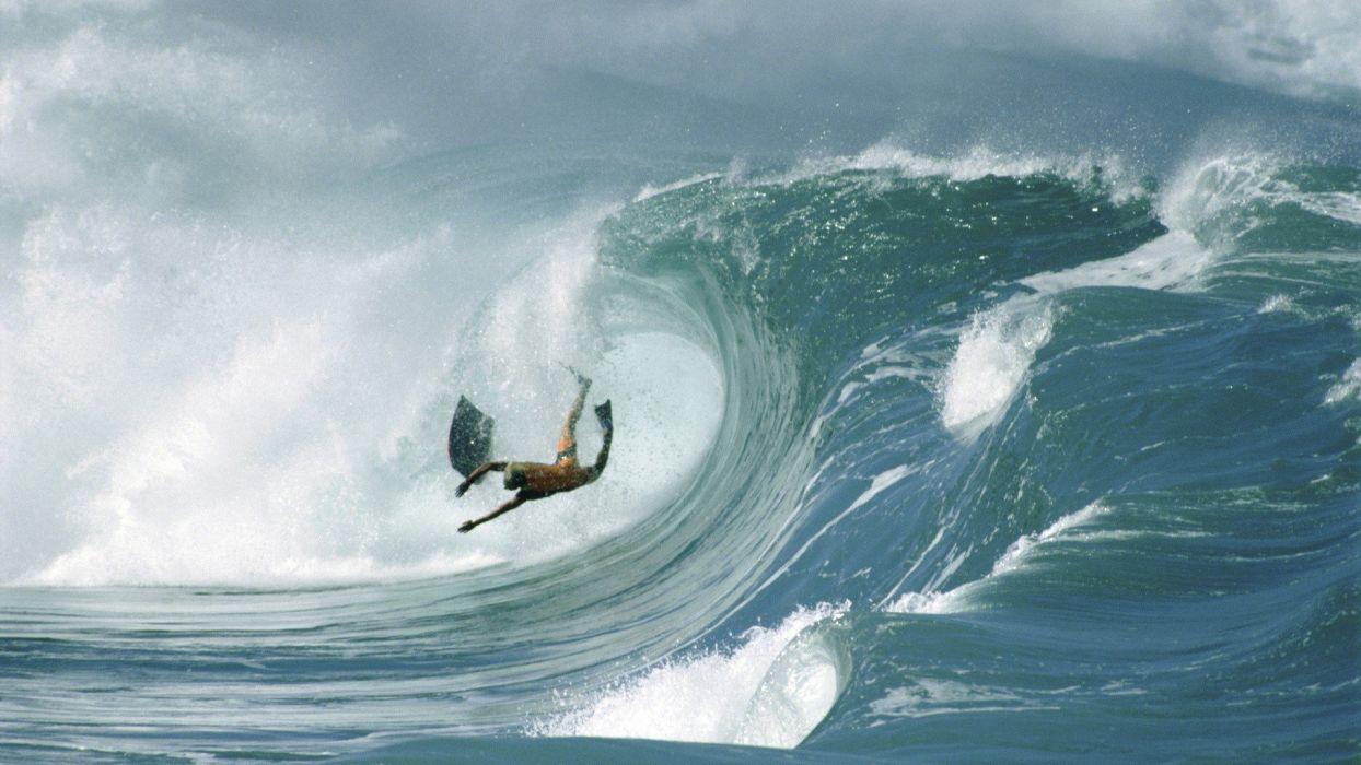 waves Hawaii Wipeout Oahu wallpaper