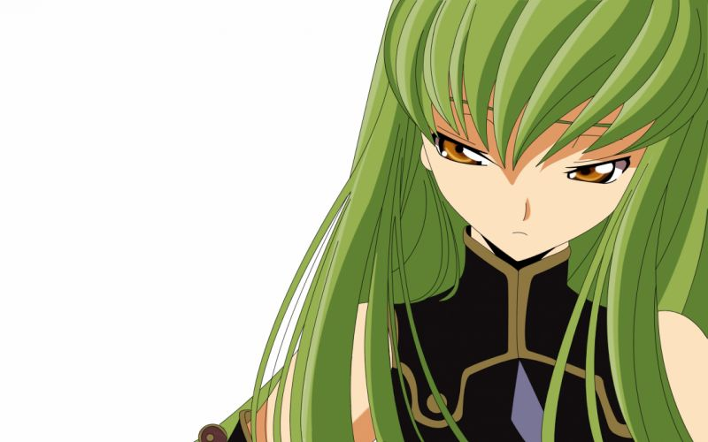 Code Geass C_C_ simple background wallpaper