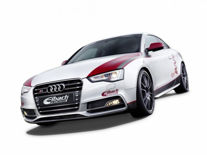 cars studio Audi tuning white cars Audi S5 luxury sport cars Eibach Audi S5 Project wallpaper
