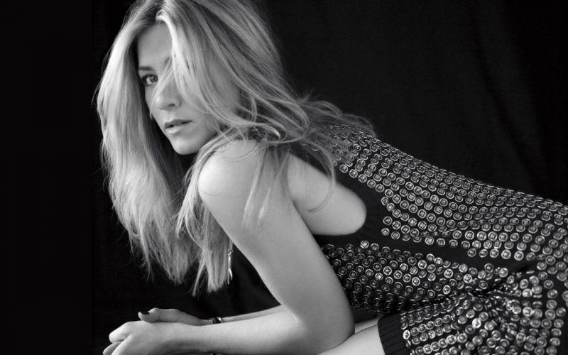 women actress Jennifer Aniston monochrome wallpaper