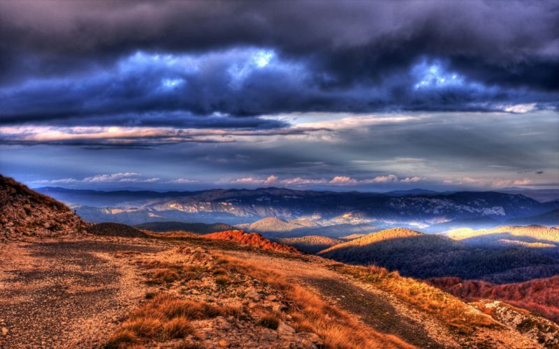 clouds landscapes HDR photography wallpaper