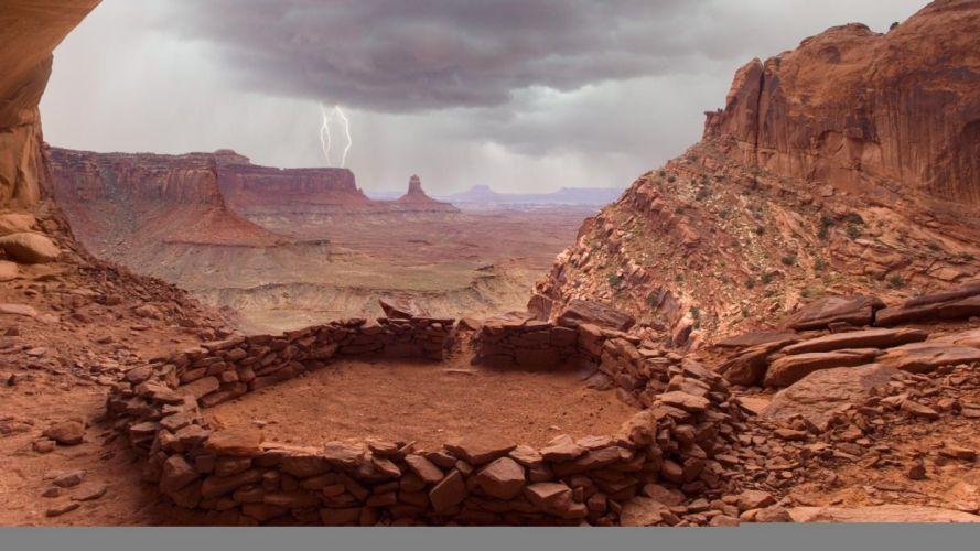 landscapes false Utah National Park Kiva wallpaper