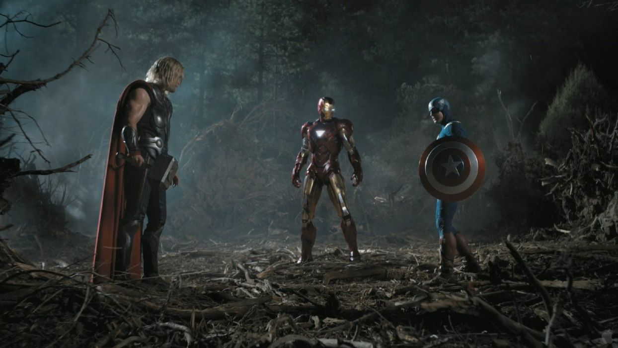 Iron Man Captain America screenshots trailer Marvel Comics Chris Evans Chris Hemsworth The Avengers (movie) wallpaper