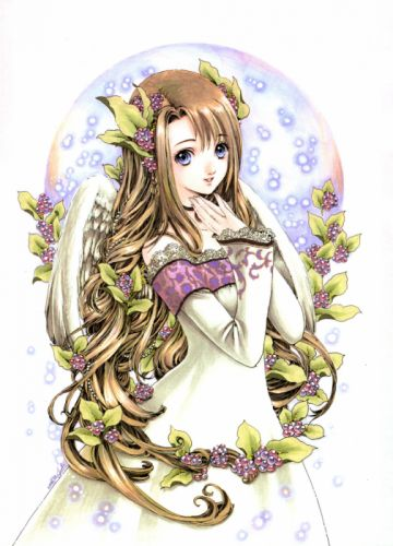 wings dress long hair anime anime girls wallpaper