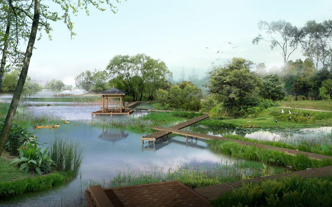 landscapes nature China wallpaper