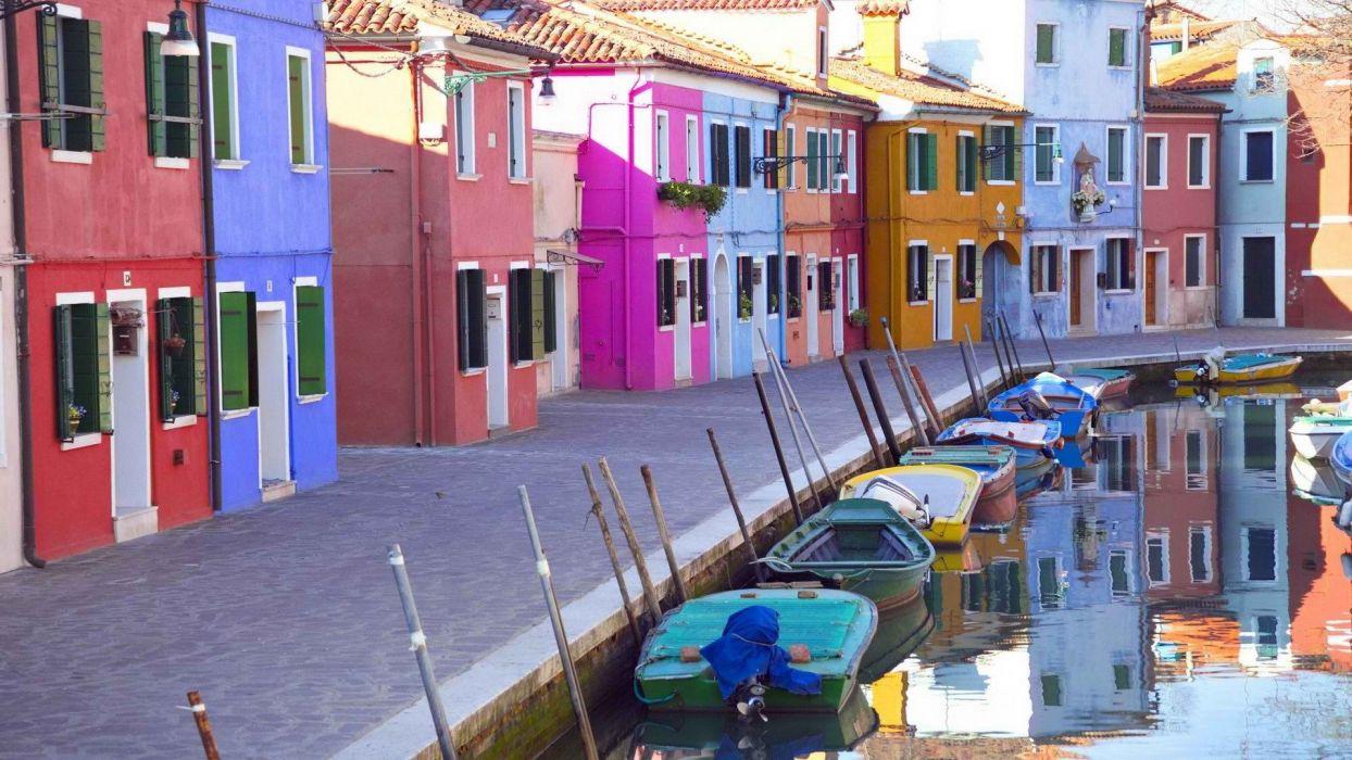 architecture boats wallpaper