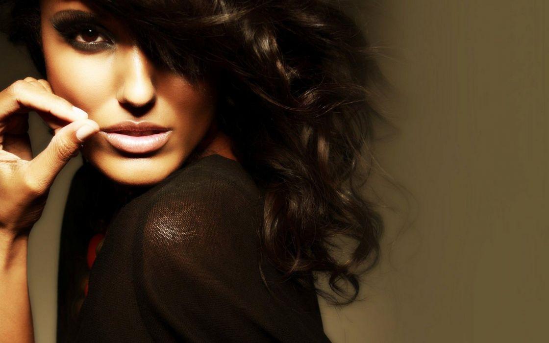 women models curly hair faces wallpaper