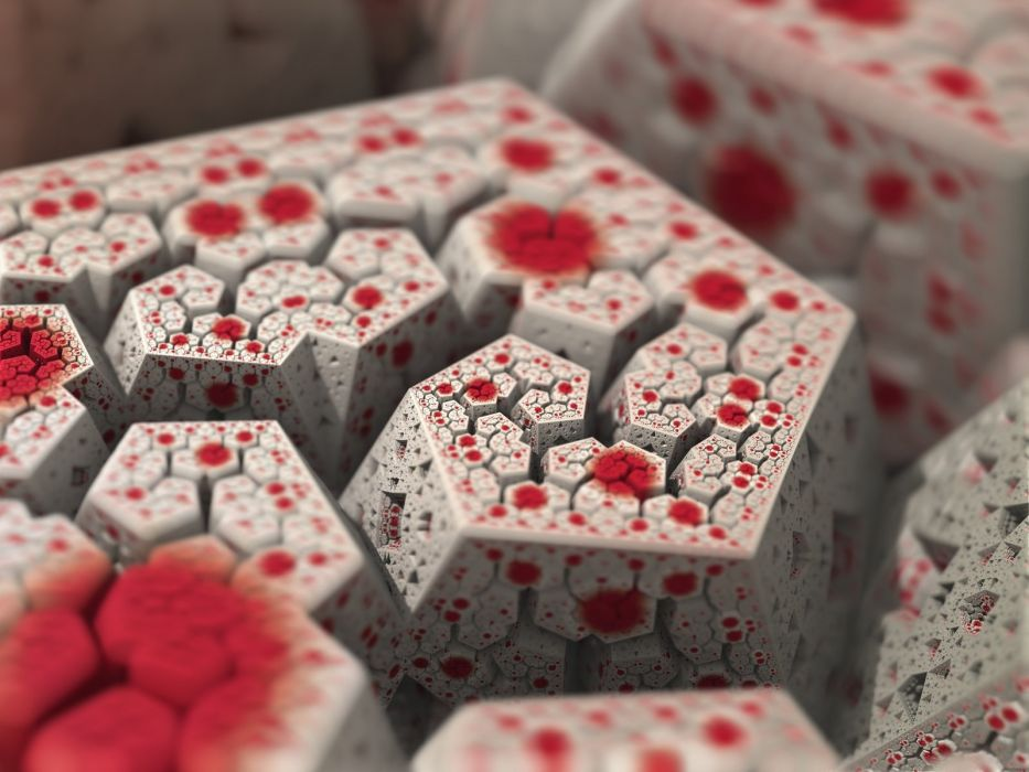 abstract artwork depth of field fractal wallpaper