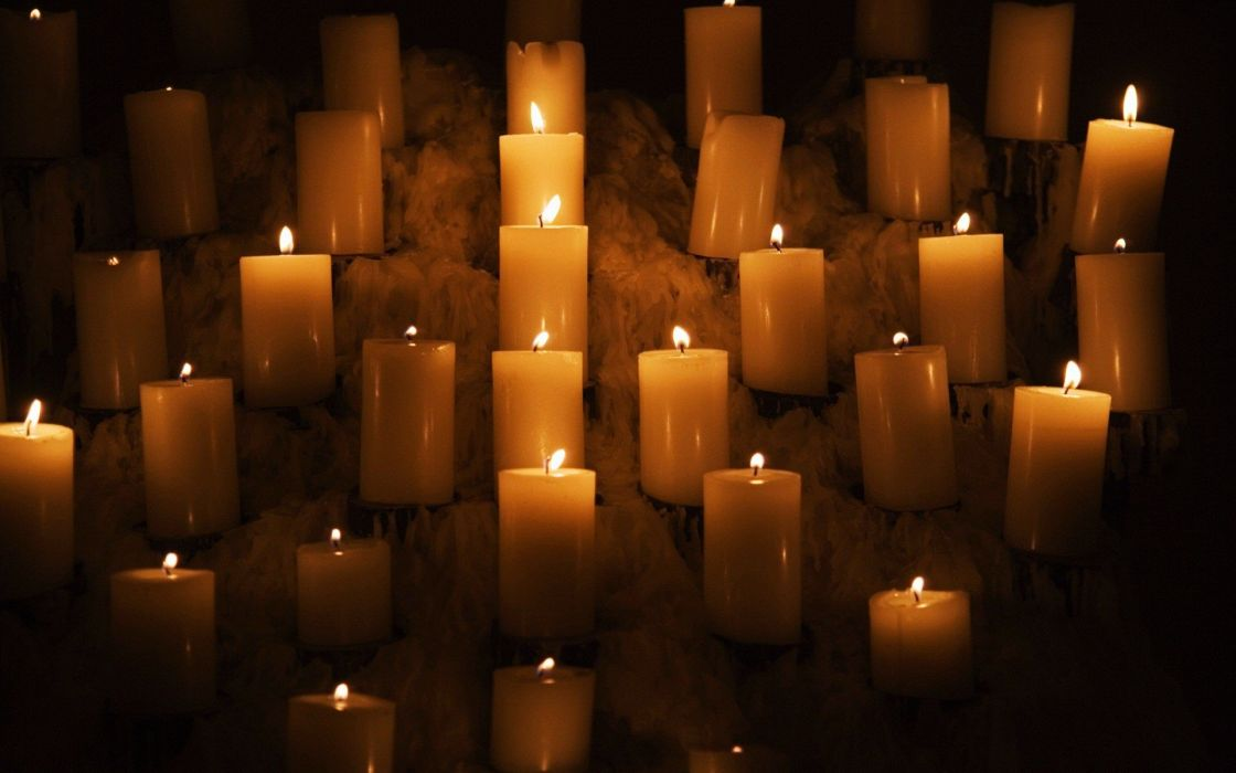 lights fire candles wallpaper