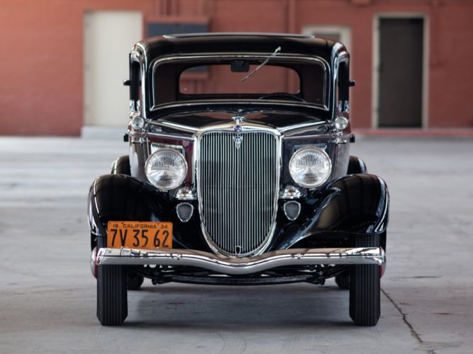 1934 Ford V-8 Deluxe 3-window Coupe (40-720) retro g wallpaper