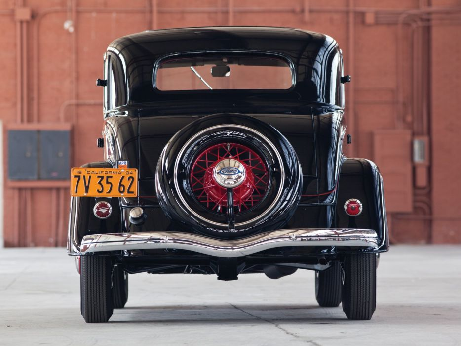 1934 Ford V-8 Deluxe 3-window Coupe (40-720) retro   h wallpaper