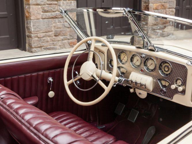 1937 Cord 812 Convertible Phaeton Sedan (C91-FB) retro luxury interior g wallpaper