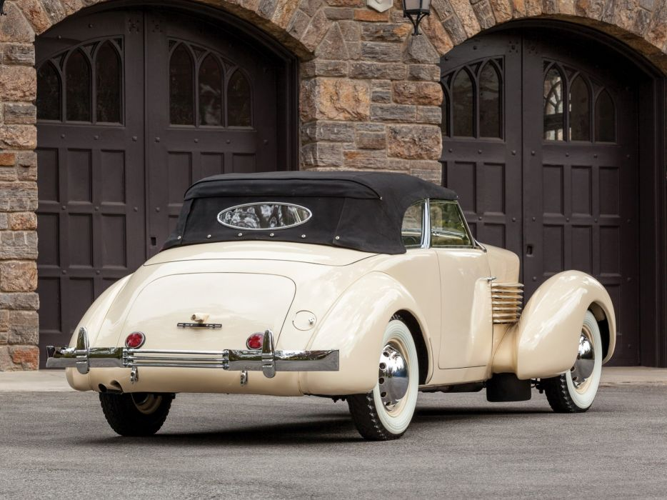 1937 Cord 812 Convertible Phaeton Sedan (C91-FB) retro luxury f wallpaper