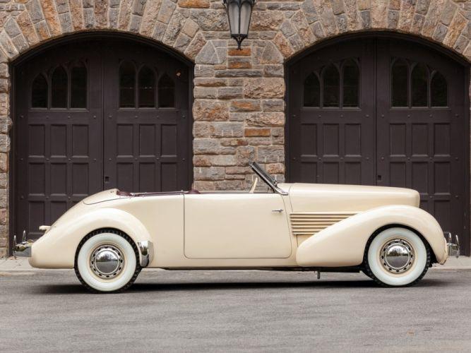 1937 Cord 812 Convertible Phaeton Sedan (C91-FB) retro luxury t wallpaper
