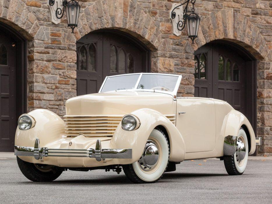 1937 Cord 812 Convertible Phaeton Sedan (C91-FB) retro luxury  hs wallpaper